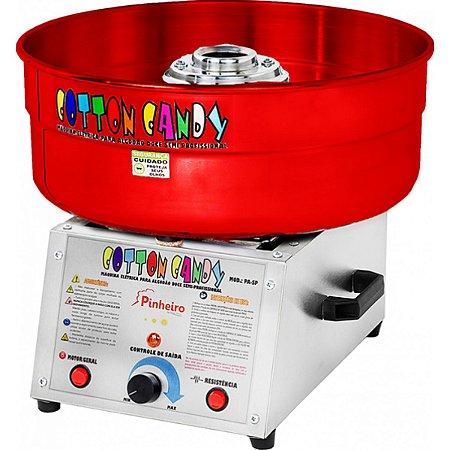 Máquina de Algodão Doce Semi- Profissional Pinheiro Vermelha - Bivolt