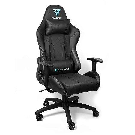 Cadeira Gamer Preta Reclinável THUNDERX3 TGC12 120 kg