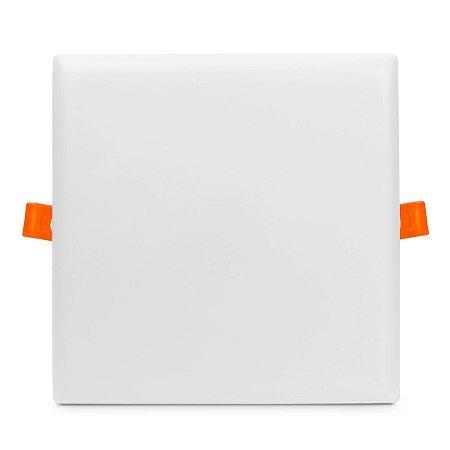Plafon LED Quadrado 25w Embutir 17x17 Branco Frio - Borda Infinita
