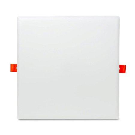 Plafon LED Quadrado 36w Embutir 22x22 Branco Frio - Borda Infinita.