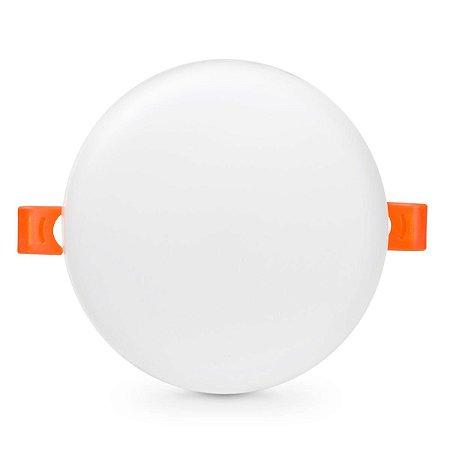 Plafon LED Redondo 36w Embutir 22x22 Branco Frio - Borda Infinita