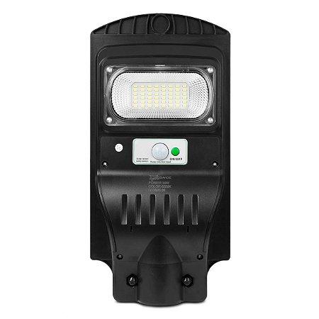 Refletor Led Luminária Pública Poste Solar Sensor 30w Branco Frio