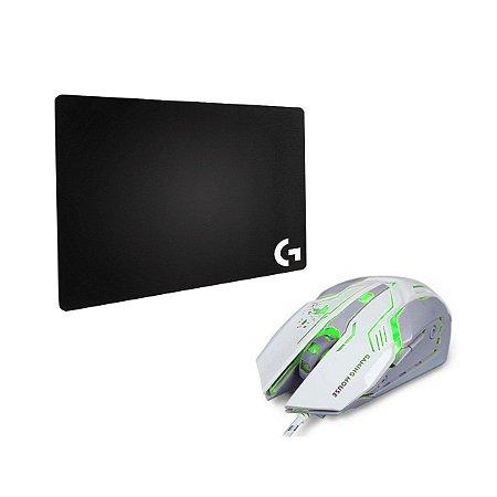 Mouse X Soldado PC + Mouse PAD Logitech