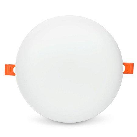 Plafon LED Redondo 25w Embutir 17x17 Branco Frio - Borda Infinita