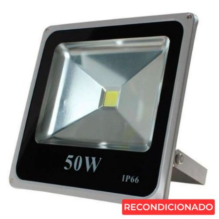 Refletor Led 50w Carcaça Cinza - Branco Frio
