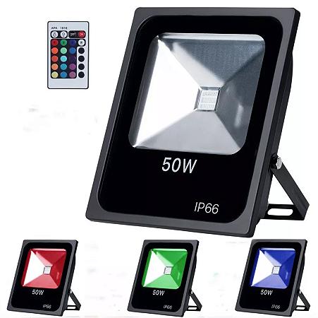 Refletor Led 50w RGB - Slim