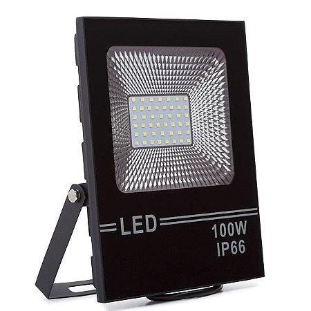Refletor LED Holofote 100w Branco Frio IP66