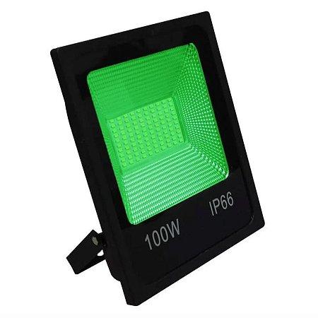 Refletor LED 100w SMD Slim - Verde