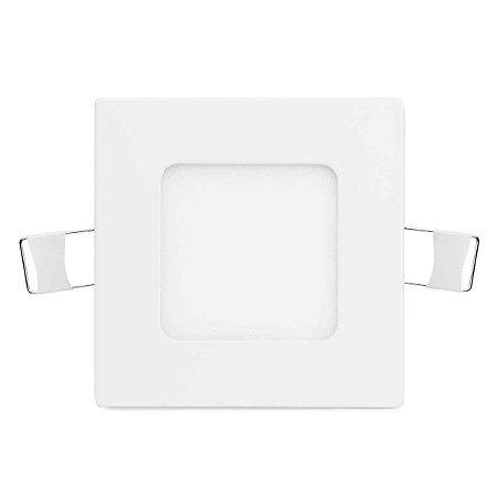 Painel Plafon Led 3w Branco Frio Quadrado Embutir