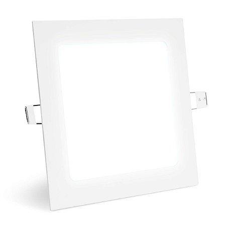 Painel Plafon Led 12w Quadrado Embutir - Branco Frio