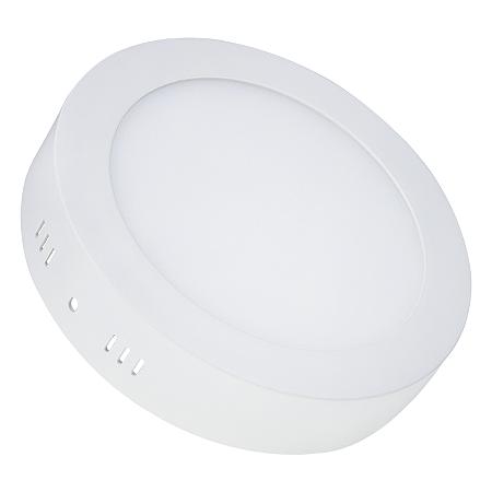 Painel Plafon LED 12w Redondo Sobrepor - Branco Frio