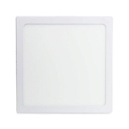 Painel Plafon Led 18w Quadrado Sobrepor - Branco Frio