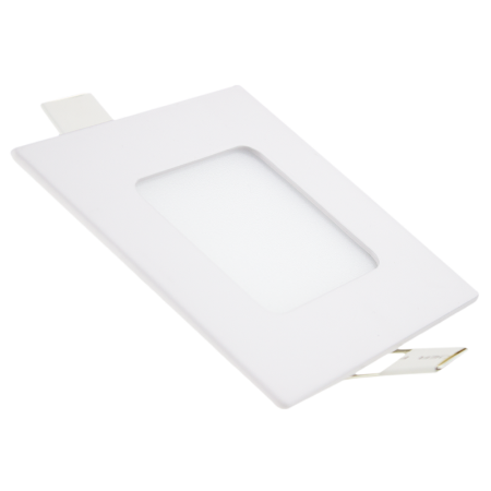 Painel Plafon Led Branco Quente 3w Quadrado Embutir