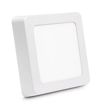 Painel Plafon Led 6w Quadrado Sobrepor - Branco Quente