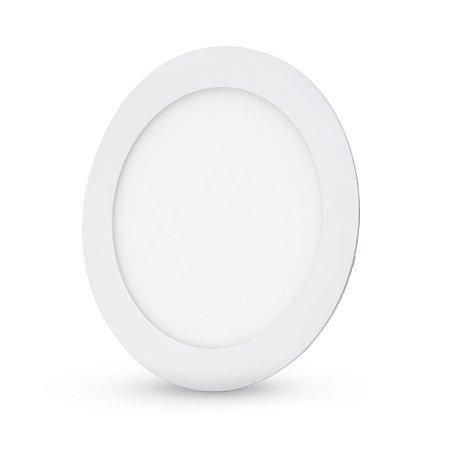 Painel Plafon Led 12w Redondo Embutir - Branco Quente