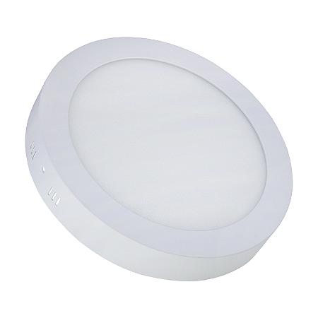 Painel Plafon LED 18w  Redondo Sobrepor - Branco Quente