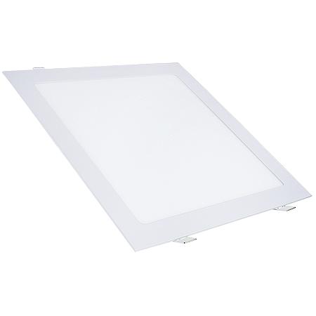 Painel Plafon Led 25w Quadrado Embutir - Branco Quente