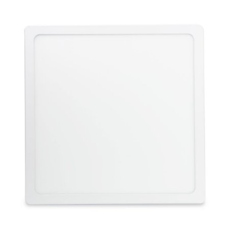Kit 5 Painel Plafon Led Branco Quente 25w Quadrado Sobrepor