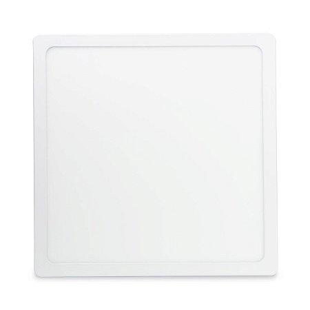 Kit 10 Painel Plafon Led Branco Quente 25w Quadrado Sobrepor