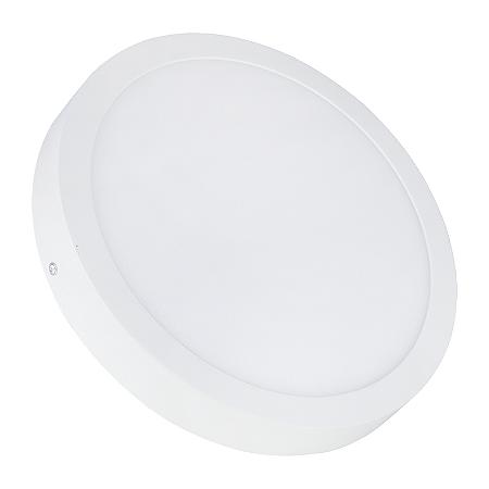 Painel Plafon LED 25w Redondo Sobrepor - Branco Quente