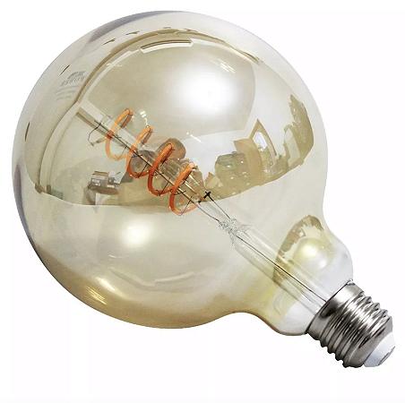 Lâmpada De Filamento LED 4w Retrô G125 - Âmbar