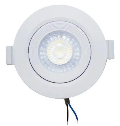 Kit 10 Spot LED Embutir 7w Direcionável Redondo Branco Frio