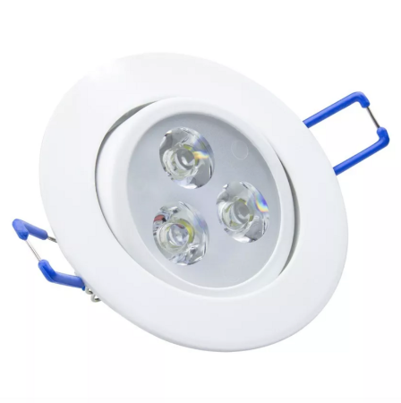 Kit 20 Spot LED Embutir 3w Direcionável Redondo Branco Quente