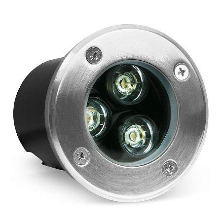 Kit 2 Balizador LED 3w De Chão - Branco Frio