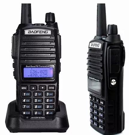 Kit 2 Rádio Comunicador Baofeng UV-82