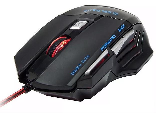 Mouse Gamer X-Soldado Gm-700 Óptico 3000 Dpi Led 7d  Extreme