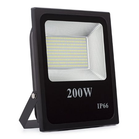 Kit 2 Refletor LED Holofote 200w Prova D'Água Branco Frio