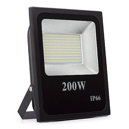 Kit 3 Refletor LED Holofote 200w Prova D'Água Branco Frio