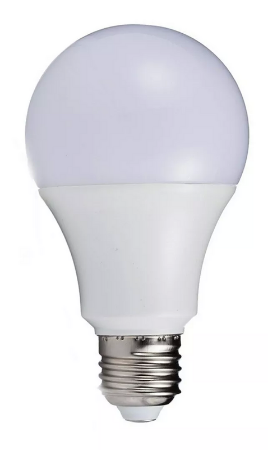 Kit 5 Lâmpada LED 5w Bulbo Plástico Econômico Branco Frio