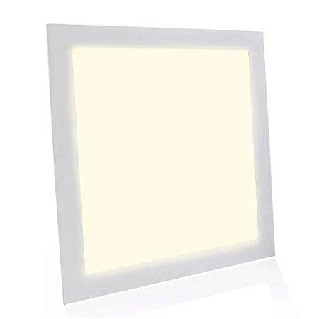 Kit 2 Painel Plafon LED Embutir Quadrado 40x40cm 36w Branco Quente