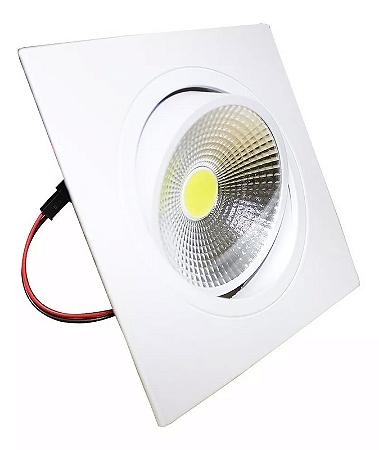 Kit 5 Spot LED 7W COB Quadrado - Branco Frio