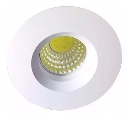 Kit 5 Mini Spot LED 3w Redondo COB - Branco Frio