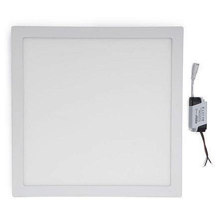 Kit 5 Painel Plafon LED 36w Quadrado Sobrepor - Branco Frio