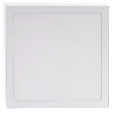 Kit 5 Painel Plafon LED 36w Sobrepor Quadrado - Branco Quente