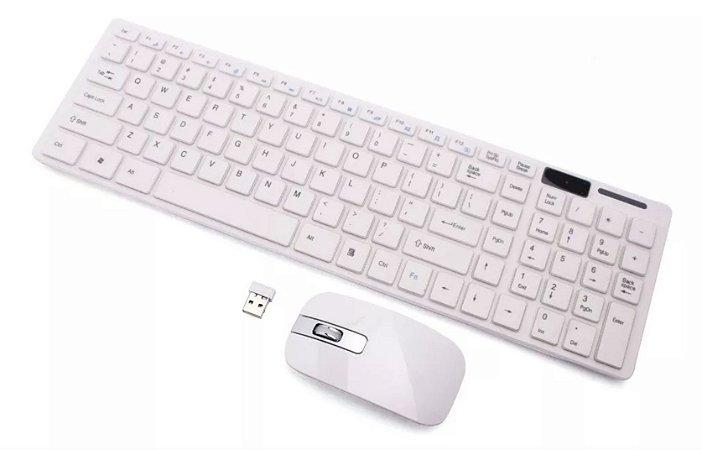 Teclado e Mouse Sem Fio Sensor Óptico Wireless PC e iOS