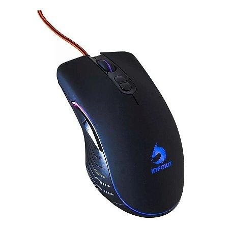 Mouse Gamer USB Com Led Rgb Rotativo Catching GM-V550