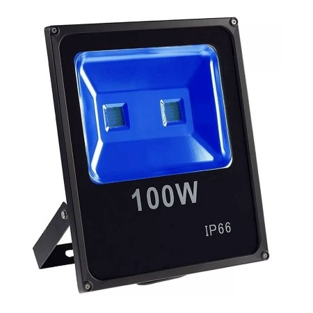 Refletor Led 100w Slim - Azul