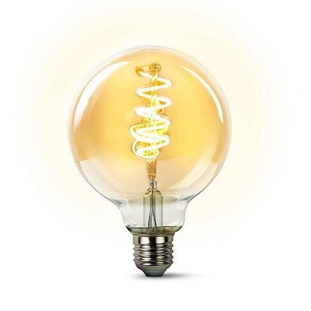 Lâmpada De Filamento LED 4w G95 - Âmbar