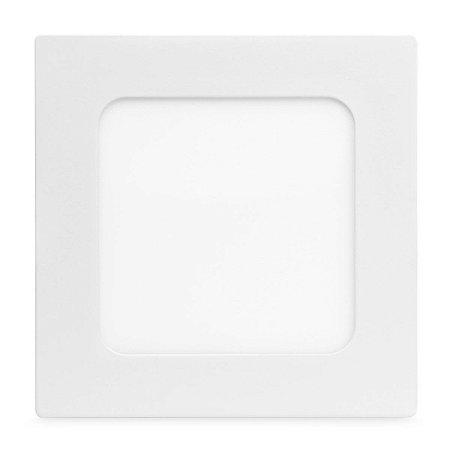 Kit 10 Painel Plafon Led 6w Quadrado Embutir - Branco Frio