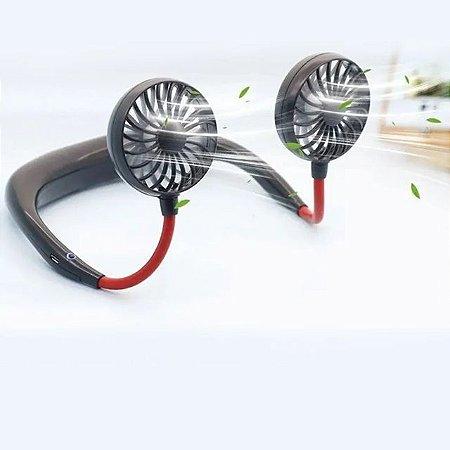 Ventilador Portátil Para Pescoço USB - Bateria