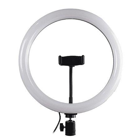Iluminador LED Ring Light Para Fotos e Vídeos - 12 polegadas