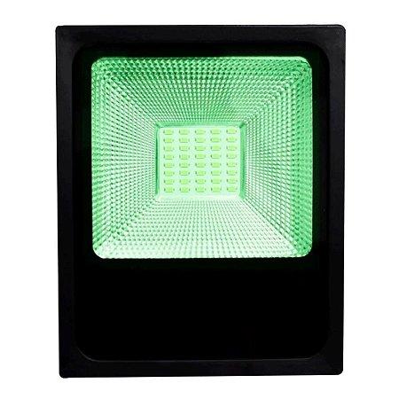 Refletor LED 200w Slim SMD - Verde