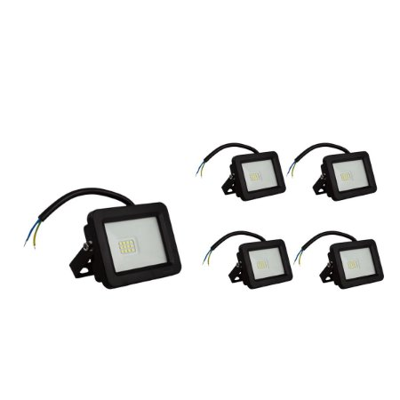 Kit 5 Refletor LED 30w SMD Eco - Branco Frio