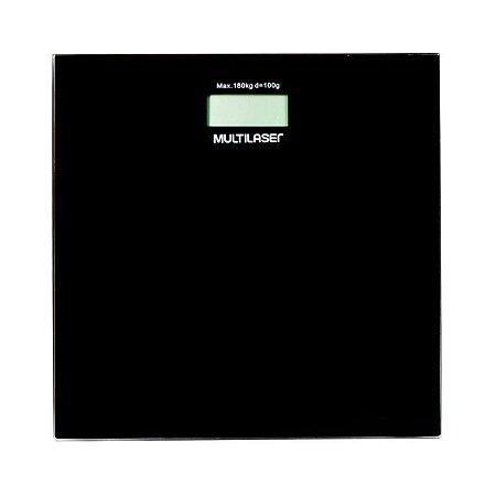 Balança Digital Multilaser Digi-Health  LCD 180 KG  HC022 - Preta