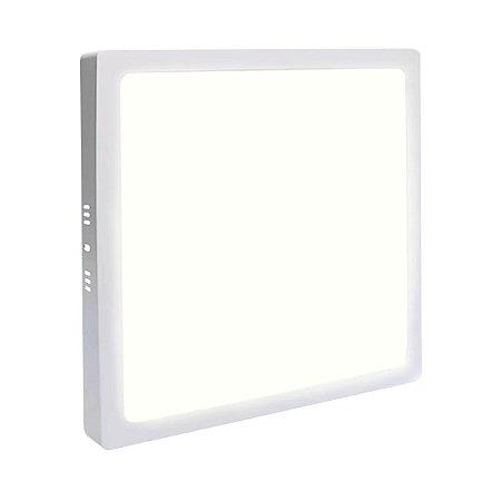 Painel Plafon LED 18w Quadrado Sobrepor - Branco Morno