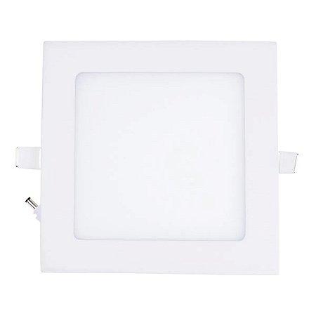Mini Painel Plafon LED 12w Quadrado Embutir - Branco Quente